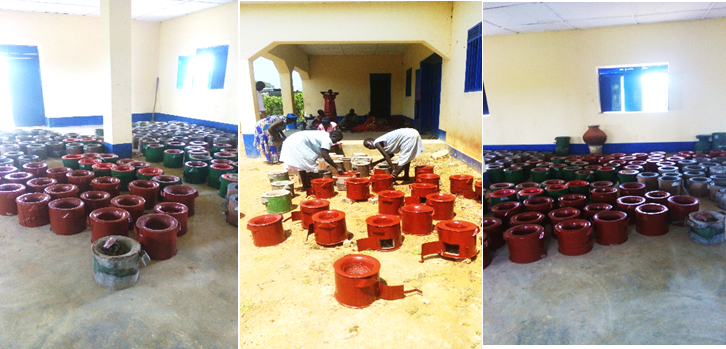 SPEDP Fuel Efficiency Stove group during production of fuel stoves