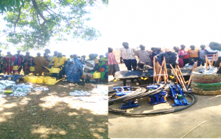Photo: during distribution of Inputs, Tools and Equipment's in Aweil Center and Aweil North Counties